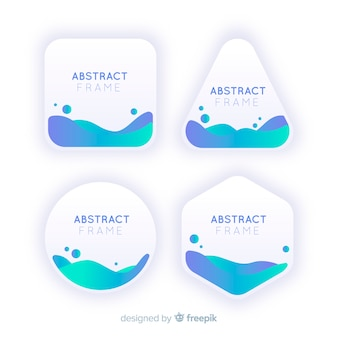 Cadres abstraits avec des vagues à l'intérieur