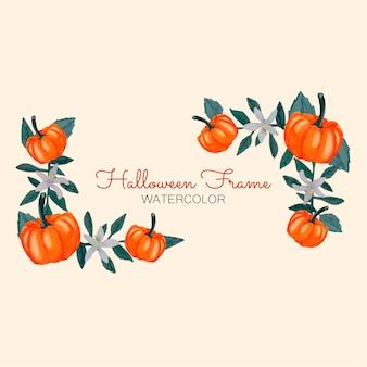 Cadres d'aquarelle d'halloween