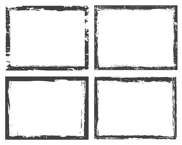 Cadres de bordure grunge ou ensemble de fond