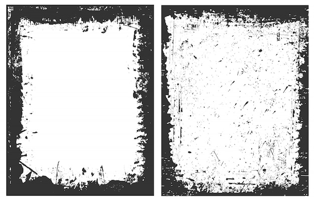 Cadres de bordure grunge