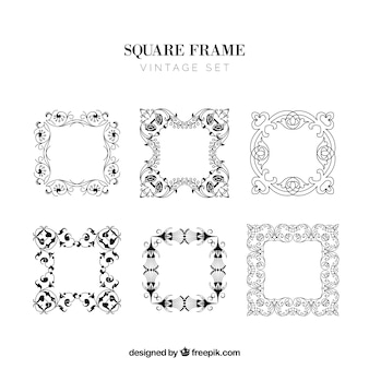 Cadres carrés fixés