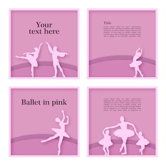 Cadres de danseurs de ballet