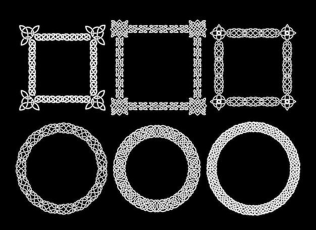Cadres décoratifs de vecteur pour une photo, une image, un portrait ou un texte