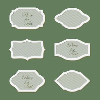 Cadres de différentes formes géométriques.
