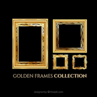 Cadres élégants d'or