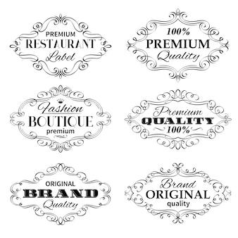 Cadres d'étiquettes de bannières vintage.