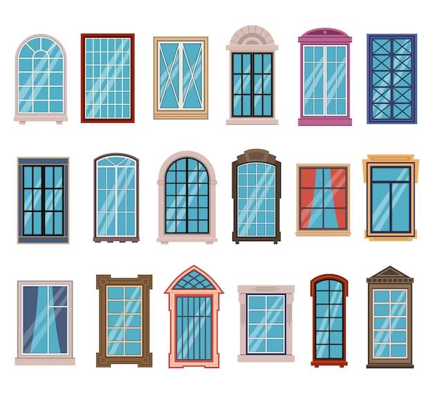 Cadres de fenêtres plats