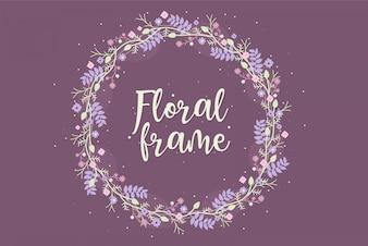 Cadres Floral Plat