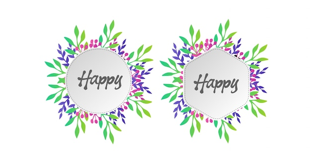 Cadres floraux couleur