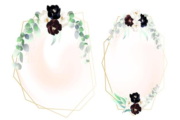 Cadres floraux d'eucalyptus