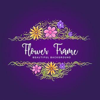 Cadres de fond de jolie fleur