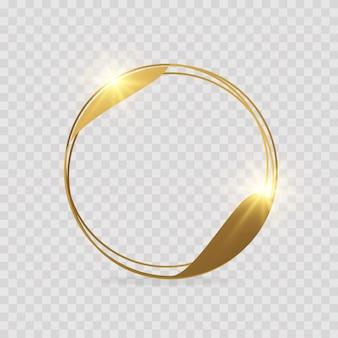Cadres géométriques dorés. polyèdre géométrique, style art déco pour l'invitation de mariage, ensemble de lignes fines de cadres polygonaux dorés détaillés 3d réalistes pour la décoration d'invitation.