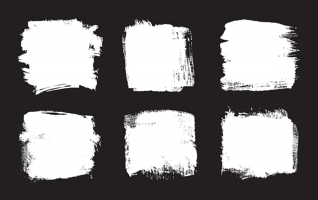 Cadres de grunge blanc abstrait