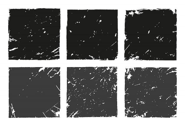 Cadres de grunge noir