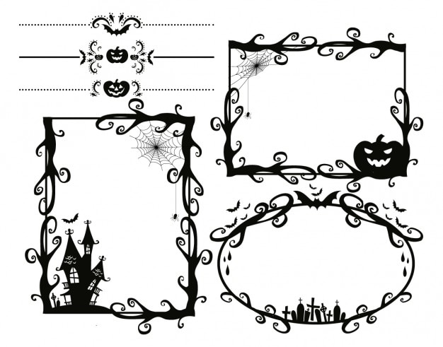 Cadres d'halloween