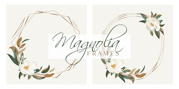 Cadres magnolia