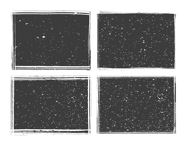 Cadres noirs abstraits grunge