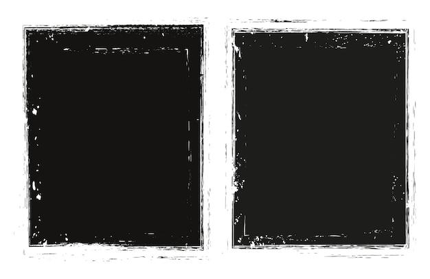 Cadres noirs de vecteur grunge