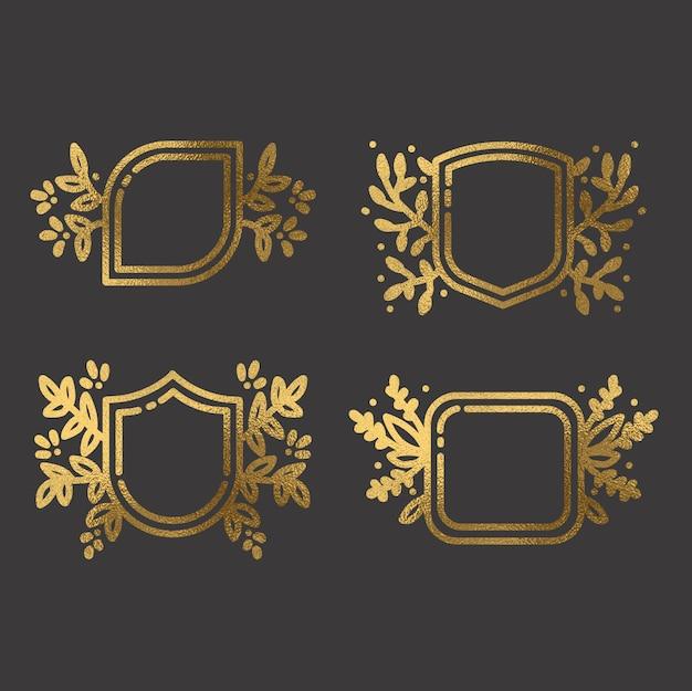 Cadres en or dessinés à la main