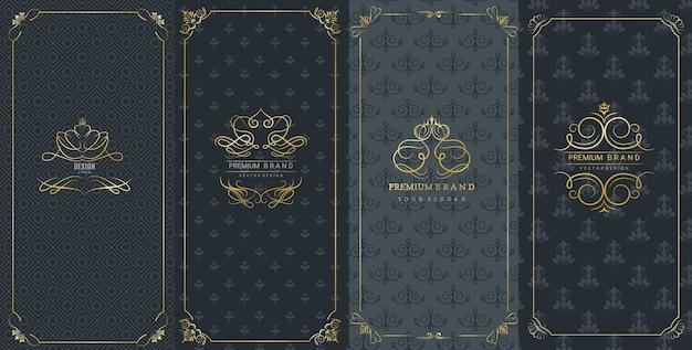 Cadres ornés et logos de luxe pour l'emballage