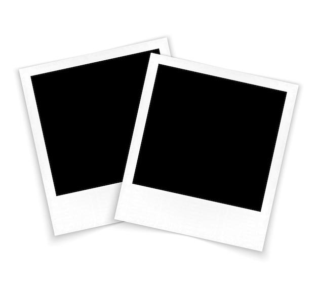 Cadres photo sur le vecteur de fond blanc
