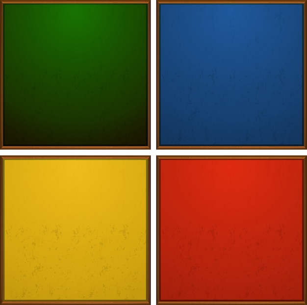 Cadres en quatre couleurs