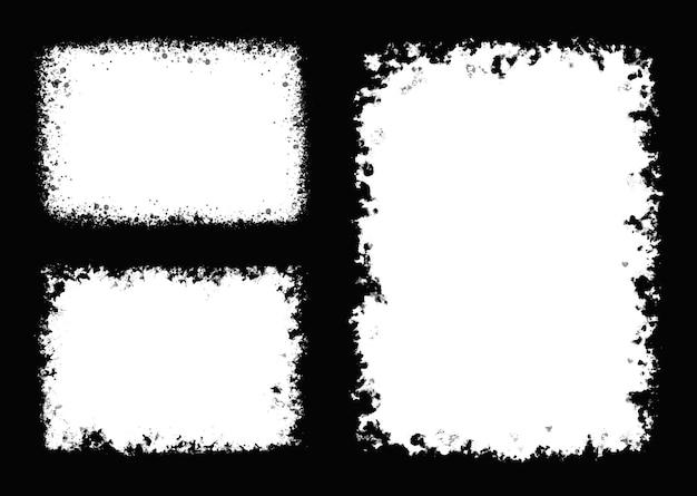 Cadres rétro abstraits grunge