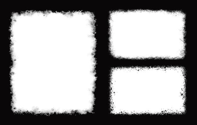 Cadres rétro grunge blanc abstrait