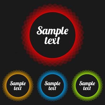 Cadres de texte rondes colorées