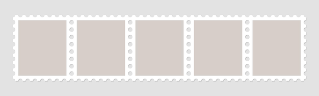 Cadres de timbres-poste pour enveloppes de courrier.