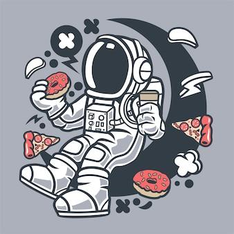Café de l'astronaute et beignets