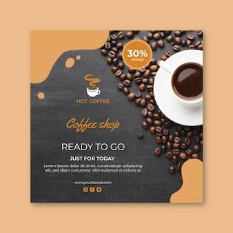 Café carré flyer