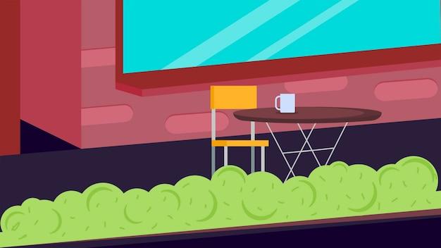 Café avec des chaises