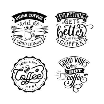 Le café cite le lettrage de typographie pour la conception de tshirt