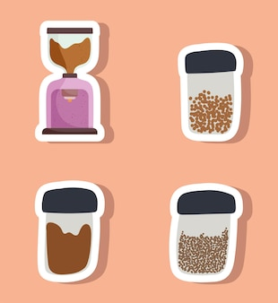 Café diverses icônes