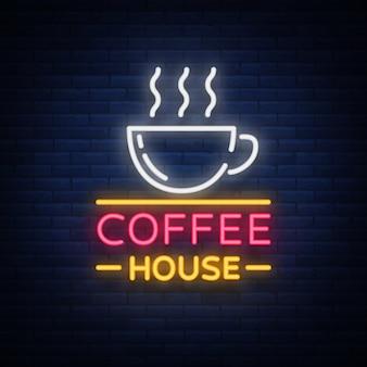 Café enseigne au néon