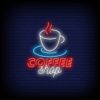 Café enseignes au néon