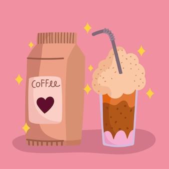 Café frappé et produit
