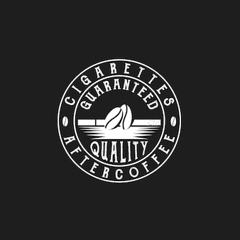 Café en grains et cigarettes coffee shop retro vintage labels cafe vector création de logo