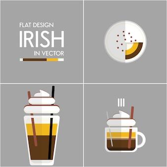Café icône illustration définie