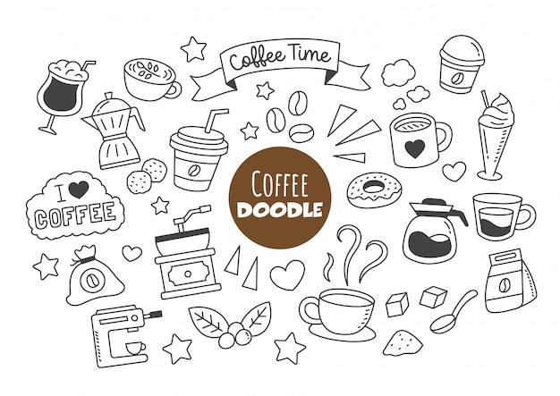 Café kawaii doodle