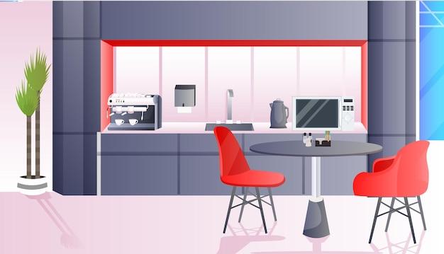 Café moderne intérieur vide aucun peuple restaurant avec mobilier horizontal