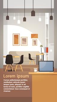 Café moderne intérieur vide restaurant sans personnes