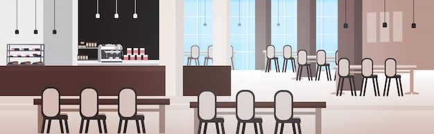 Café moderne avec des meubles