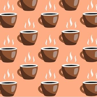 Café motif fond médias sociaux post illustration vectorielle