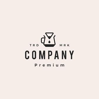 Café papier filtre goutteur hipster vintage logo vector icon illustration