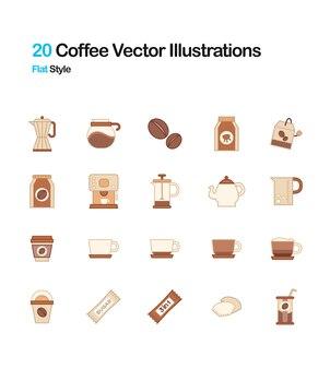 Café plat illustration