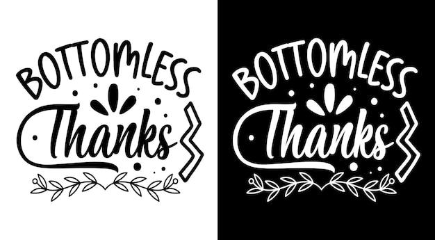 Le café de remerciement sans fond cite le lettrage dessiné à la main