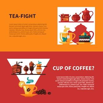 Café et thé 2 bannières