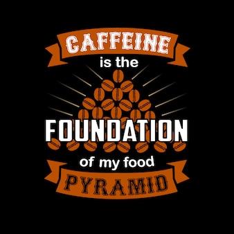 La caféine est le fondement de ma nourriture